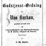 Boyesens gudstjänstordning som krävdes för ansökan om statserkännande