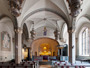 Swedenborgs Minneskyrka - Kyrkorummet
