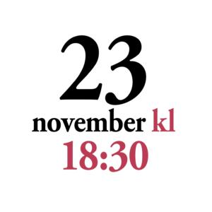 23 november kl 1830